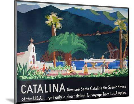Catalina Island Travel Poster--Mounted Giclee Print