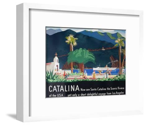 Catalina Island Travel Poster--Framed Art Print