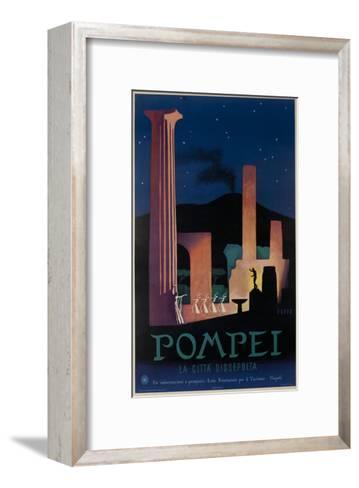 1952 Pompeii Italy Travel Poster--Framed Art Print