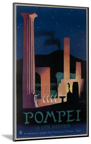 1952 Pompeii Italy Travel Poster--Mounted Giclee Print