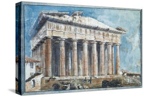 The Removal of the Sculptures from the Pediments of the Parthenon-Sir William Gell-Stretched Canvas Print