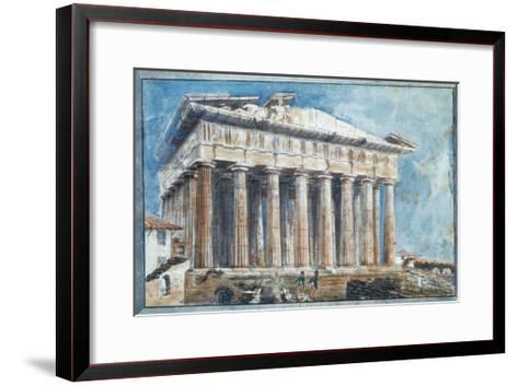 The Removal of the Sculptures from the Pediments of the Parthenon-Sir William Gell-Framed Art Print