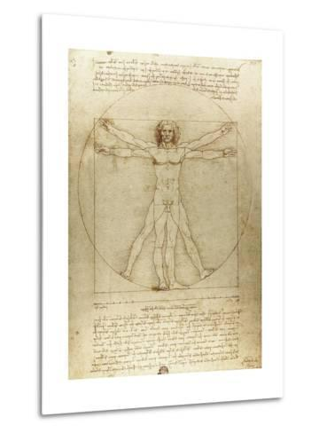 Vitruvian Man (Canon of Proportions)-Leonardo da Vinci-Metal Print