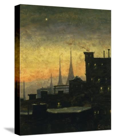 New York Roof Tops-Louis Eilshemius-Stretched Canvas Print