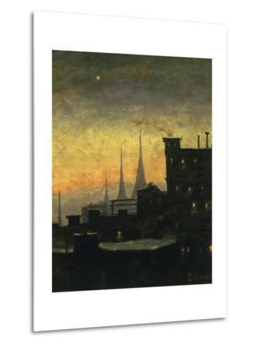 New York Roof Tops-Louis Eilshemius-Metal Print