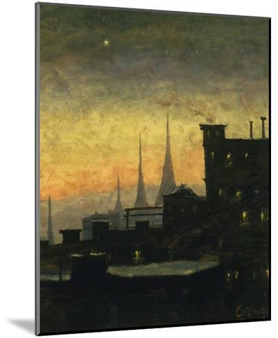 New York Roof Tops-Louis Eilshemius-Mounted Giclee Print