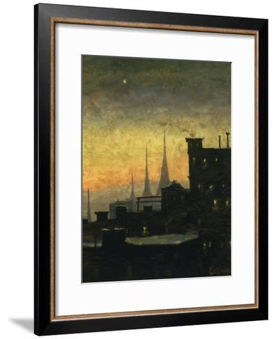 New York Roof Tops-Louis Eilshemius-Framed Art Print