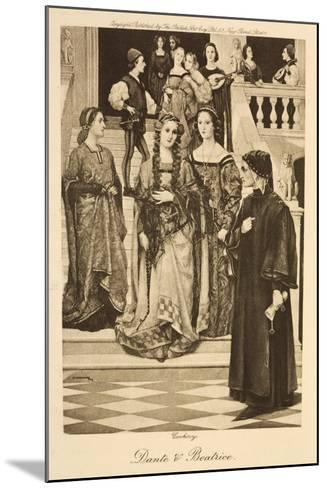 Illustration of Dante and Beatrice--Mounted Giclee Print