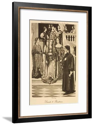 Illustration of Dante and Beatrice--Framed Art Print