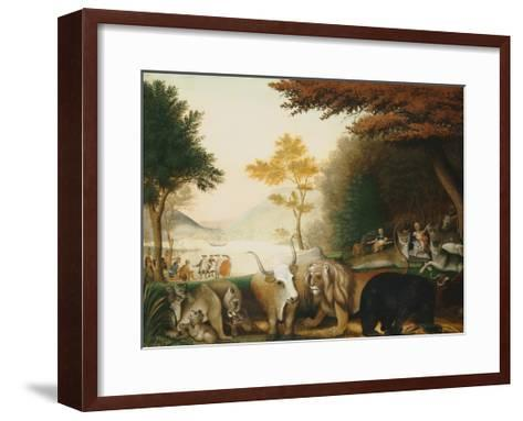 The Peaceable Kingdom-Edward Hicks-Framed Art Print