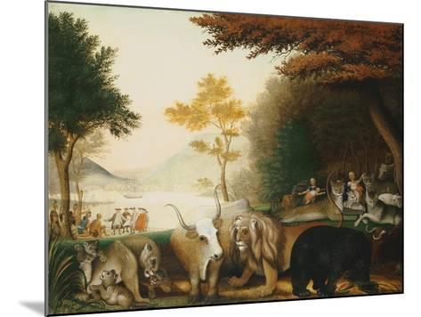 The Peaceable Kingdom-Edward Hicks-Mounted Giclee Print