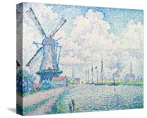 Canal of Overschie-Paul Signac-Stretched Canvas Print