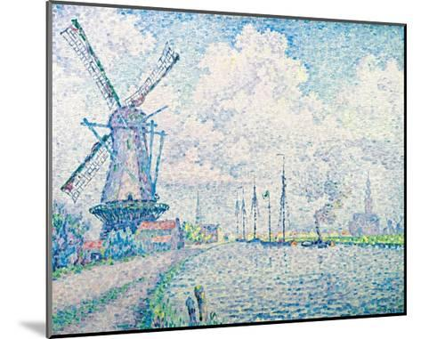 Canal of Overschie-Paul Signac-Mounted Giclee Print