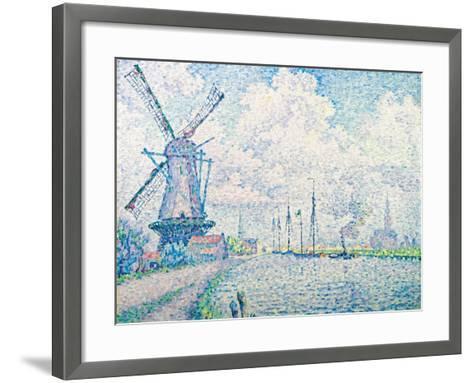Canal of Overschie-Paul Signac-Framed Art Print