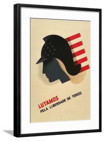 Portuguese Language Propaganda Poster--Framed Art Print
