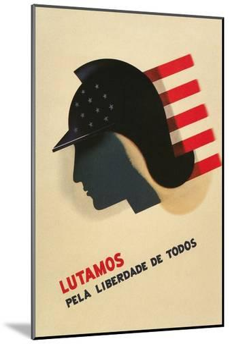 Portuguese Language Propaganda Poster--Mounted Giclee Print