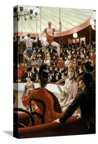 Women of Paris: the Circus Lover-James Tissot-Stretched Canvas Print