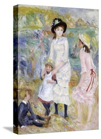 Children on the Seashore, Guernsey-Pierre-Auguste Renoir-Stretched Canvas Print