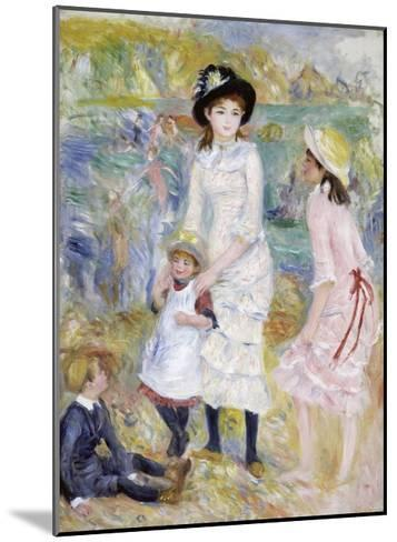 Children on the Seashore, Guernsey-Pierre-Auguste Renoir-Mounted Giclee Print