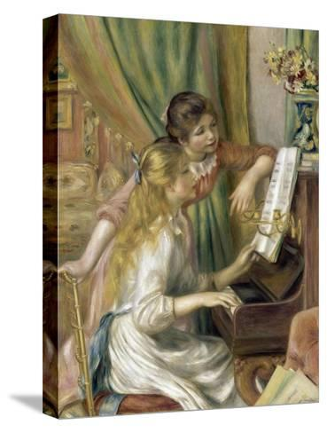 Young Girls at the Piano-Pierre-Auguste Renoir-Stretched Canvas Print