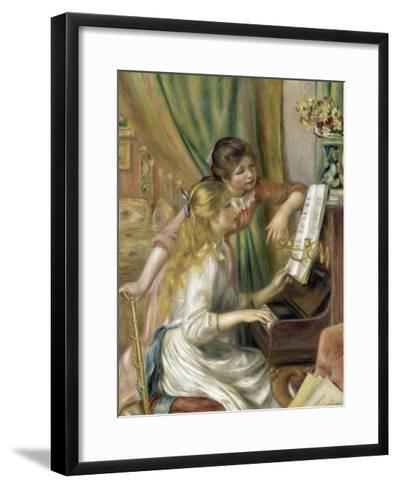 Young Girls at the Piano-Pierre-Auguste Renoir-Framed Art Print
