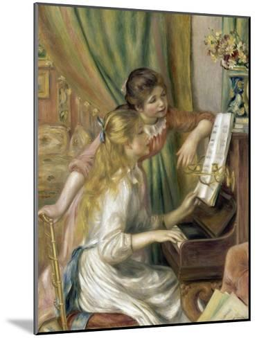 Young Girls at the Piano-Pierre-Auguste Renoir-Mounted Giclee Print