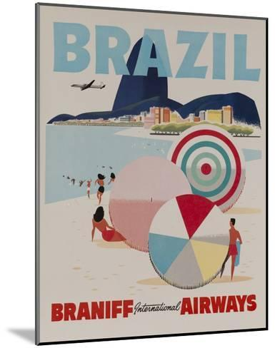 Braniff Airways Travel Poster, Brazil--Mounted Giclee Print