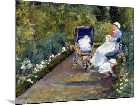 Children in a Garden (The Nurse)-Mary Cassatt-Mounted Giclee Print