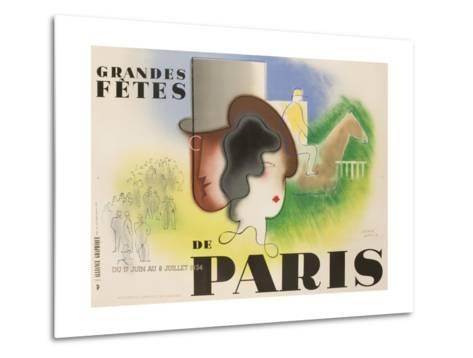 Grandes Fetes De Paris, 1934 French Travel and Tourism Poster--Metal Print