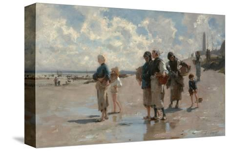 Fishing for Oysters at Cancale-John Singer Sargent-Stretched Canvas Print