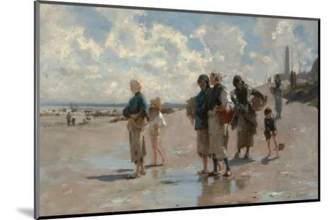 Fishing for Oysters at Cancale-John Singer Sargent-Mounted Giclee Print