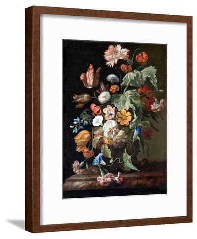 Still-Life with Flowers-Rachel Ruysch-Framed Art Print