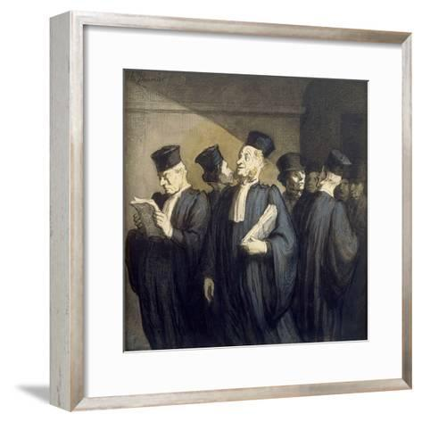Avant l'Audience-Honor? Daumier-Framed Art Print