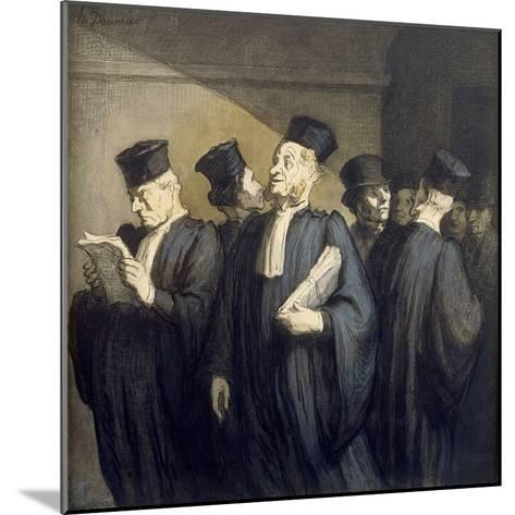 Avant l'Audience-Honor? Daumier-Mounted Giclee Print