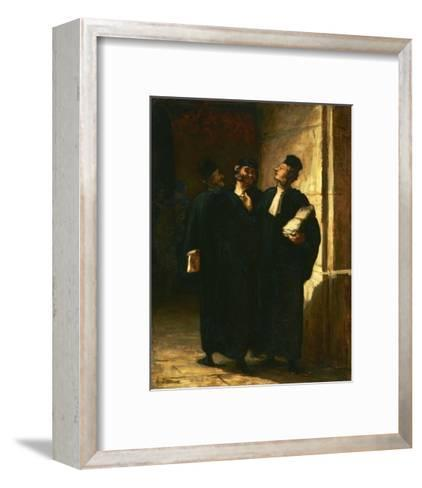 Three Lawyers-Honor? Daumier-Framed Art Print