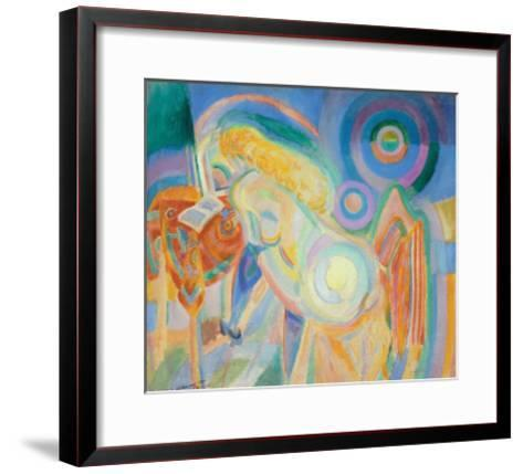 Femme Nue Lisant (Nude Woman Reading)-Robert Delaunay-Framed Art Print