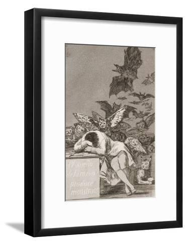 The Sleep of Reason Produces Monsters (No. 43), from Los Caprichos-Suzanne Valadon-Framed Art Print