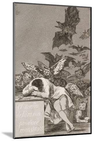 The Sleep of Reason Produces Monsters (No. 43), from Los Caprichos-Suzanne Valadon-Mounted Giclee Print