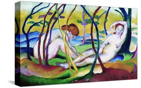 Nudes under Trees-Franz Marc-Stretched Canvas Print
