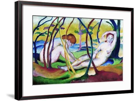 Nudes under Trees-Franz Marc-Framed Art Print