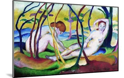 Nudes under Trees-Franz Marc-Mounted Giclee Print
