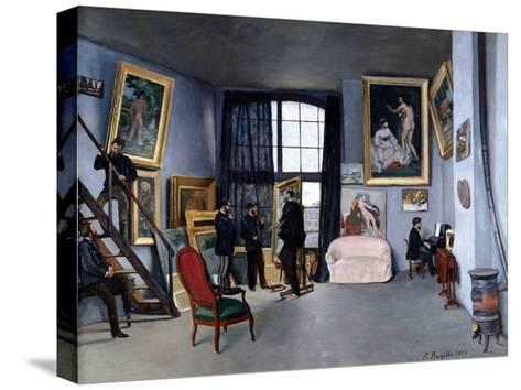 Bazille's Studio-Frederic Bazille-Stretched Canvas Print