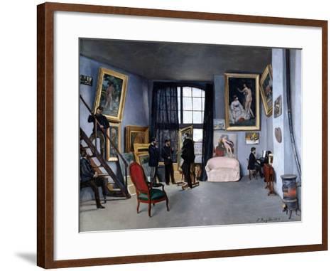 Bazille's Studio-Frederic Bazille-Framed Art Print