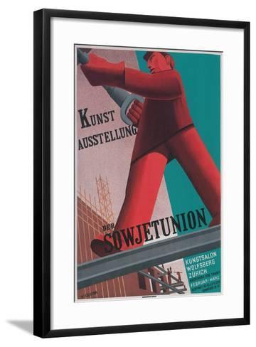 Poster for Exhibit of Soviet Art in Zurich--Framed Art Print