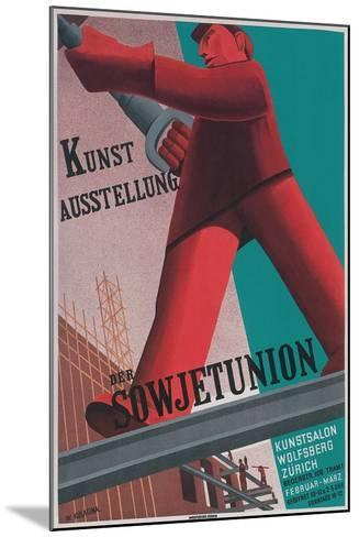 Poster for Exhibit of Soviet Art in Zurich--Mounted Giclee Print