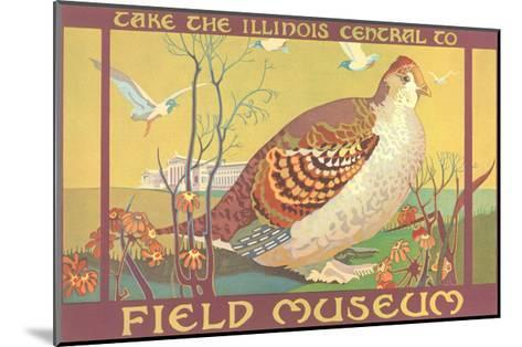 Poster for Field Museum with Quail--Mounted Giclee Print