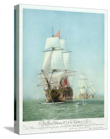The First Journey of ?Victory,' 1778--Stretched Canvas Print