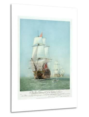 The First Journey of ?Victory,' 1778--Metal Print