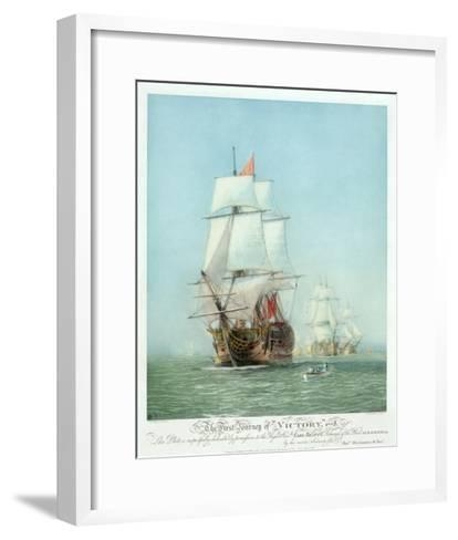 The First Journey of ?Victory,' 1778--Framed Art Print