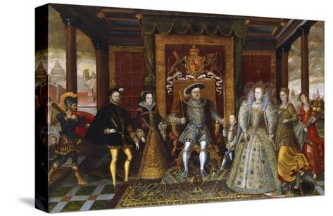 An Allegory of the Tudor Succession: the Family of Henry VII--Stretched Canvas Print